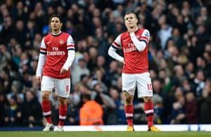 Tottenham v Arsenal: Arteta and Wilshere