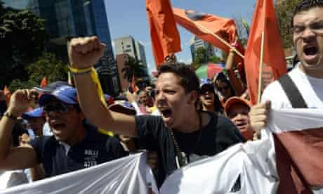 Opposition students in Caracas