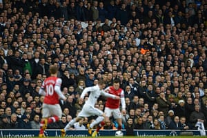 Tottenham v Arsenal: Fans in stands