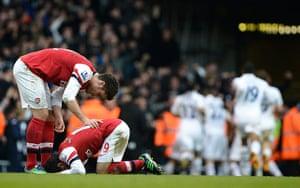 Tottenham v Arsenal: Injured Cazorla