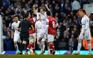 Tottenham v Arsenal: Vermaelen and Dawson