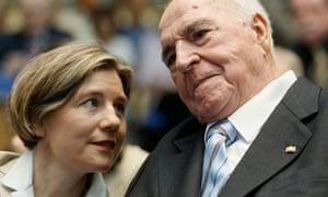 Maike Kohl-Richter and Helmut Kohl