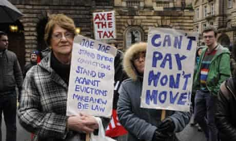 Protest bedroom tax Liverpool