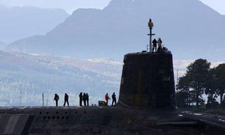 A Vanguard class nuclear submarine