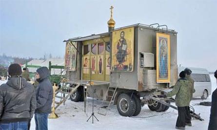 Church-in-a-box … A Russian military Orthodox chapel