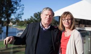 D. A. Pennebaker and Chris Hegedus outside the Adelaide festival centre
