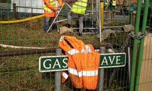 Anti-fracking protest - 'Gas Avenue'
