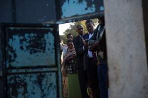 kenya elections: Voters queue to cast their ballot at St.