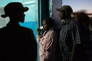 kenya elections: People wait to cast their votes at a school in Archers Post, Isiolo County