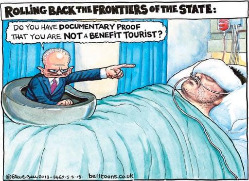 Steve Bell cartoon, 5.3.2013