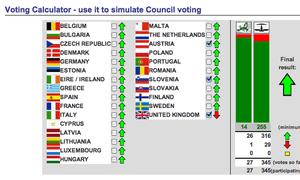 EU voting calculator