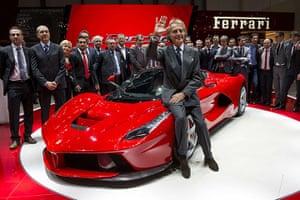 Geneva motor show: Ferrari President Luca Cordero di Montez