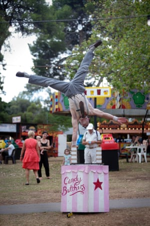 The Candy Butchers perform in the Garden of Unearthly Delights at The Fringe festival