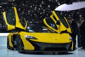 Geneva motor show: The new McLaren P1 is displayed in World