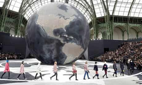 Catwalk for Karl Lagerfeld's autumn/winter 2013 creations for Chanel at Paris fashion week