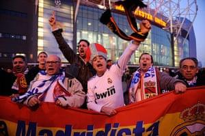 Utd v Real: Real Madrid fans