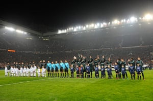 Man Utd v Real Madrid: The two teams line up
