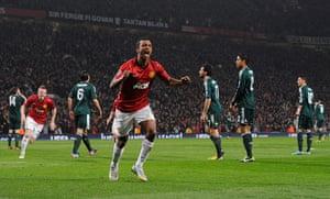 Man Utd v Real Madrid: Nani celebrates
