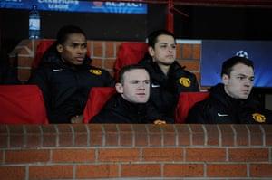 Man Utd v Real Madrid: Wayne Rooney starting on the bench