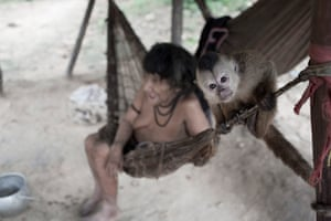 An Awá woman in the Brazilian Amazon