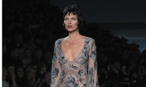 Kate Moss walks the runway during the Louis Vuitton show at Paris Fashion Week
