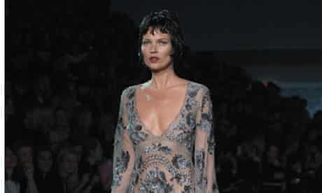 Kate Moss walks the runway during the Louis Vuitton show at Paris Fashion Week