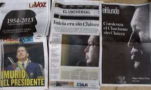 Chavez death newspapers
