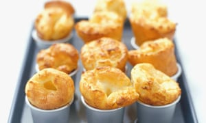 Yorkshire Puddings in a baking tray