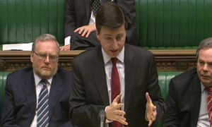 Shadow foreign secretary Douglas Alexander speaking in the House of Commons in London on Wednesday.