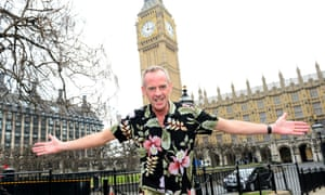 DJ Fatboy Slim who is to performing tonight on the Terrace Bar of the House of Commons in support of an initiative aiming to raise awareness of community music.