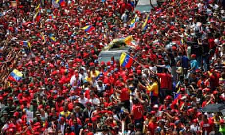 Hugo Chavez's coffin