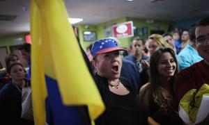 Venezuelans In Miami Chavez