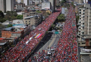 The coffin of Venezuela's late President Hugo Chavez is driven through the streets of Caracas after leaving the military hospital in Caracas. Authorities have not yet said where Chavez will be buried after his state funeral on Friday. Photograph: Stringer/Venezuela/Reuters