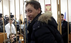 Bolshoi Ballet dancer Pavel Dmitrichenko is photographed during a court hearing in Moscow, Russia. The Bolshoi Theatre star has confessed to masterminding an acid attack acid against the director of famous ballet company.