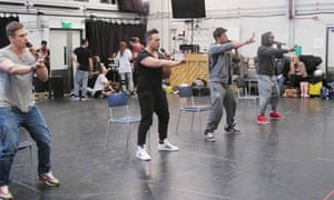 The Big Reunion: Blue in rehearsal.