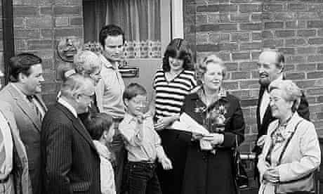 Politics - Thatcher & council house buyer - 1980