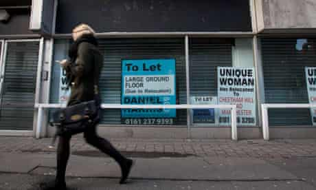 Picture shows shop to let after closing down