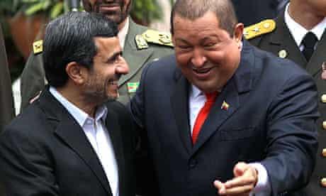 Mahmoud Ahmadinejad with Hugo Chávez in 2012