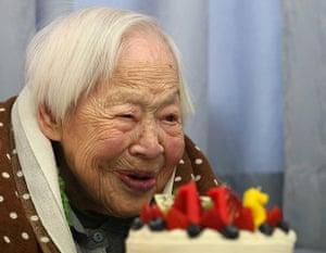 Old people: Misao Okawa