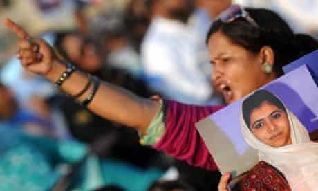 A Pakistani female supporter of a politi