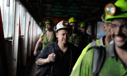 Coal miners at Daw Mill Colliery