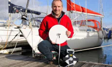 Richard Kirby with a Secchi disk
