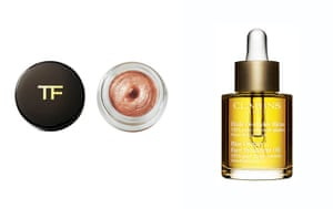 50 best beauty products: Tom Ford eye shadow and Clarins Blue Orchid oil