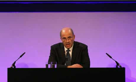 Lord Justice Leveson delivering his report.