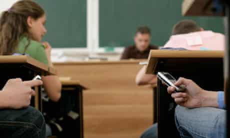 Mobile phone in class