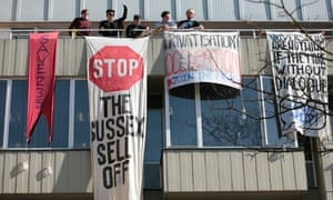 Sussex university protest banners