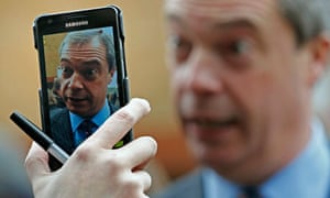Ukip leader Nigel Farage during an interview in Eastleigh