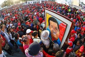 Hugo Chavez funeral: Supporters of Venezuela's late President Hugo Chavez gather