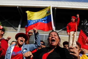 Hugo Chavez funeral: Supporters shout slogans as they line up