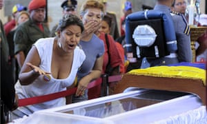 Hugo Chavez open coffin